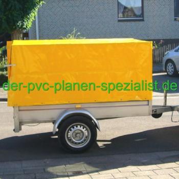 Anhängerplane - 2,10m x 1,10m x 1,10m mit Ösen und Schnallriemen hinten