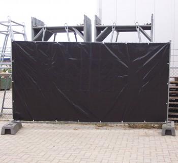 Bauzaunplane 3,41 x 1,76 m und 160g/qm